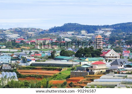 Vietnamese Central Highlands Agriculture (Da Lat) - stock photo