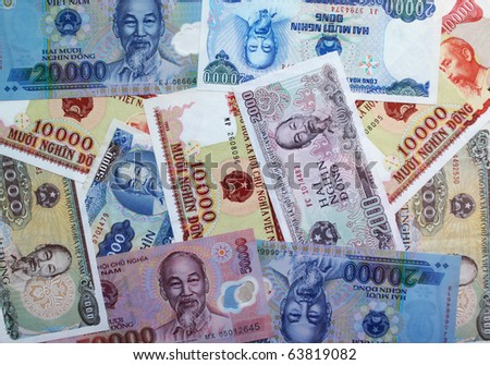 Vietnamese currency - dongs