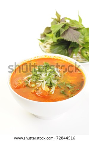 Vietnamese food isolated on white - stock photo