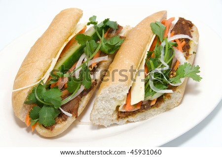 Vietnamese food: Satay Beef Sub
