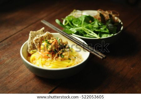 Vietnamese Noodles with Shrimps and Pork Ribs