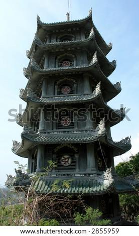 Vietnamese Pagoda - stock photo