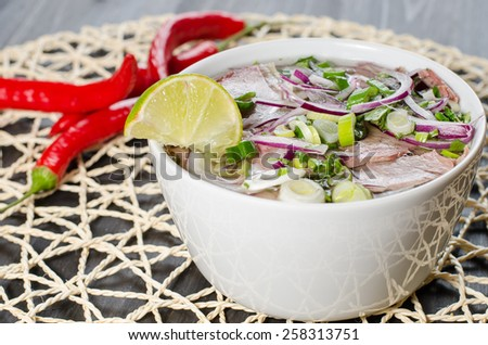 vietnamese soup - stock photo