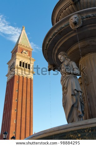 View a copy of the Basilica of San Marco in Las Vegas - stock photo