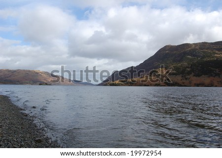 View across Ullswater in the Lake District, Cumbria, England