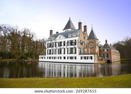 View at castle of Renswoude, The Netherlands - stock photo