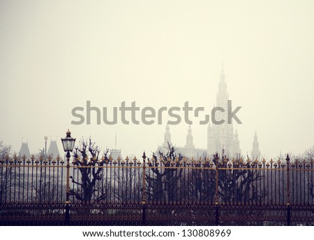 View at church in Vienna, Austria - stock photo