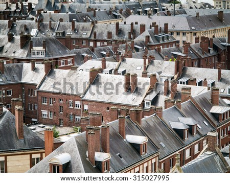 View at city of Lille, France - stock photo
