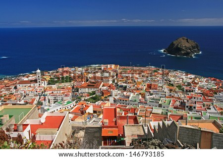 view at garachico - canary islands - stock photo