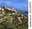 View at Gordes, the most beautiful city of the Provence,France - stock photo