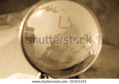 view at india ocean - stock photo