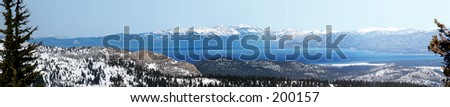 View at Lake Tahoe, California - stock photo