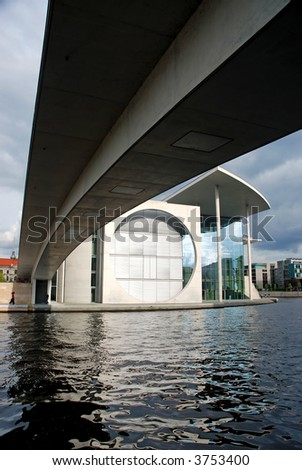 view at the Federal Chancellery of Germany in Berlin - stock photo