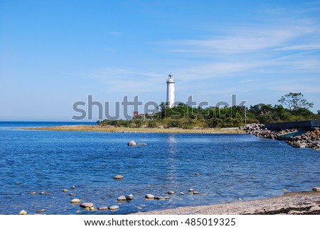 View at the lighthouse, Lange Erik, at the northern point of the swedish island Oland in the Baltic Sea