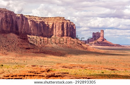 View at the Monument Valley in Navajo Tribe Park