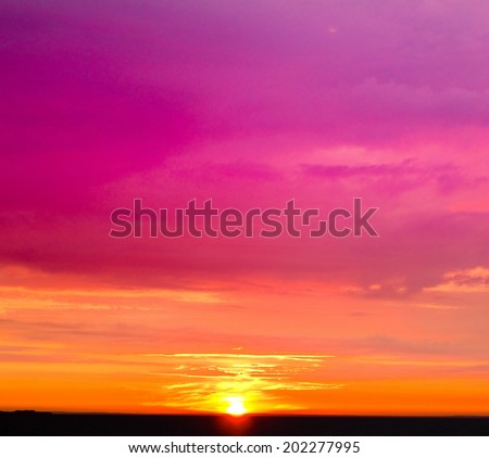 View Clouds Landscape  - stock photo