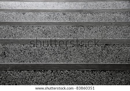 view down concrete Stair closeup view as background - stock photo