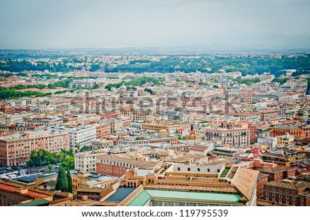 View from above of Rome, Italy