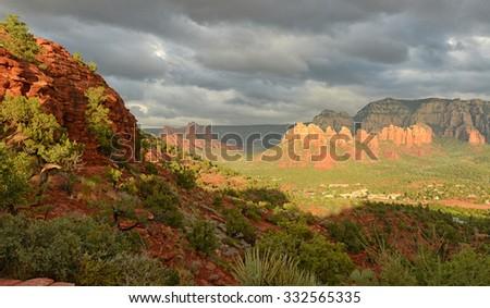 View from Airport Vortex in Sedona, Arizona - stock photo
