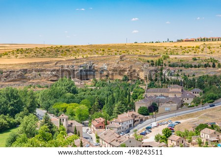 View from Alcazar of Segovia, Spain
