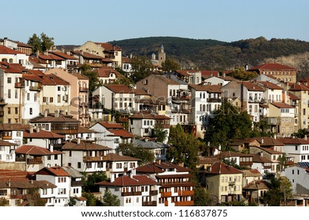 View from attractive town Veliko Tarnovo situated in Bulgaria