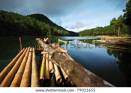 View from bamboo rafts