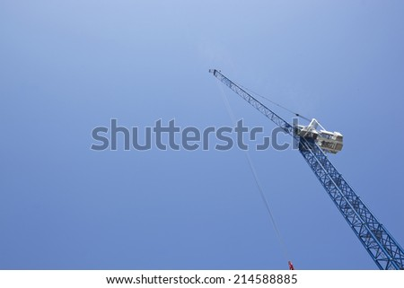 View from below of Crane - stock photo