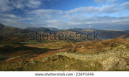 View from Black Crag, Lake District, England - stock photo