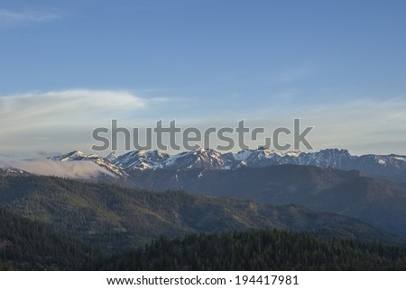 View from Blewett Pass - stock photo