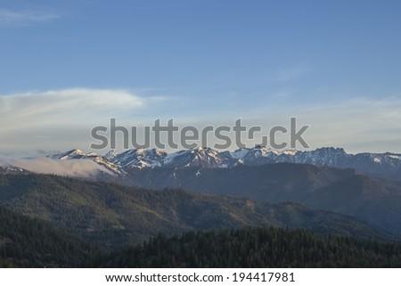 View from Blewett Pass - stock photo