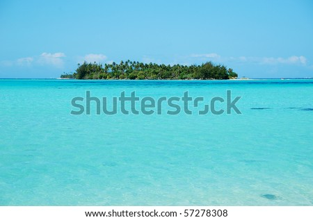 view from bora bora - stock photo