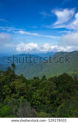 view from Brinchang Mountain, malaysia - stock photo