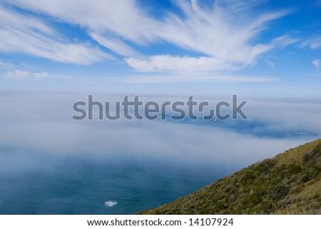 View from California coast - stock photo