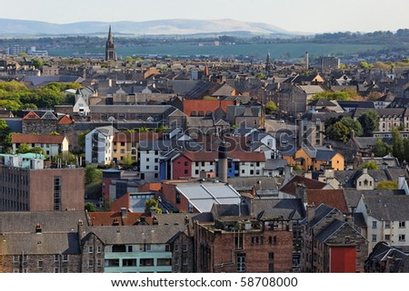 View from Calton Hill. Edinburgh. Scotland. UK. - stock photo