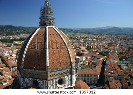 View from Camponile tower of the Duomo, florence