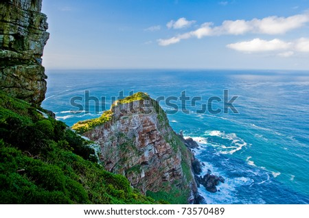 View from Cape of Good Hope - South Africa - stock photo