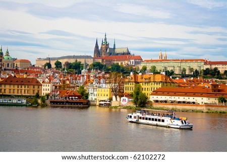 View from Charles Bridge. Prague. Czech Republic - stock photo