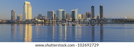 View from Coronado, San Diego, California - stock photo