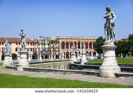 View from famous Padova, Italy  - stock photo