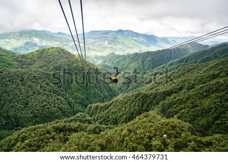 View from Fansipan Cable Car Ride Sapa, Vietnam