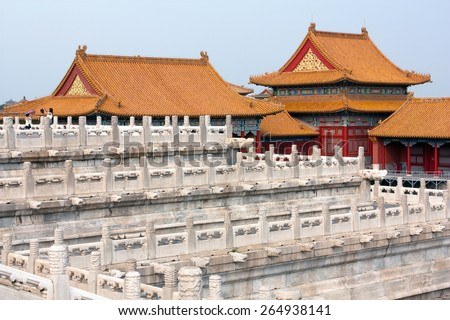 View from forbidden city - Beijing â?? china - stock photo