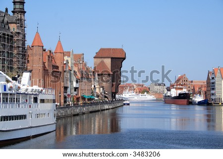 View from Gdansk (Danzig) - stock photo