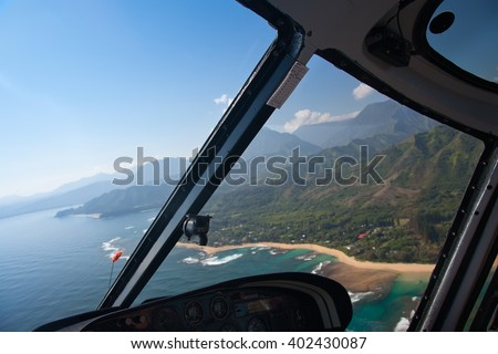 stock-photo-view-from-helicopter-hawaii-