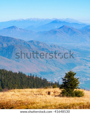 View from Hill - stock photo