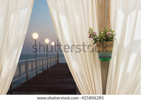 view from hotel in Alanya - stock photo