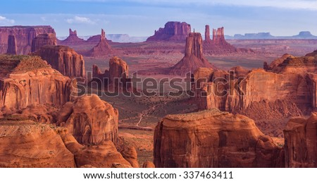 View from Hunts Mesa, Monument Valley, Arizona - stock photo