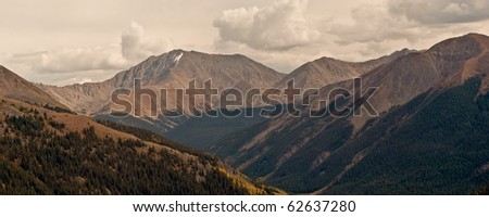 View From Independence Pass - stock photo