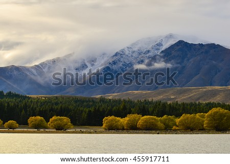 View from Lake Tekapo, New Zealand.