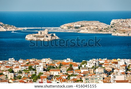 View from Marseilles, France  - stock photo