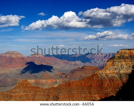 View from Mather Point, Grand Canyon - stock photo